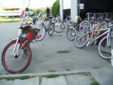 15 people and their bikes