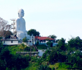 Big Buddha overlooks Kandy